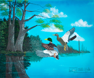 Wildlife Art The Old Mill Pond