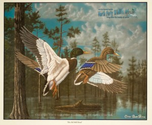 The Old Mill Pond Waterfowl Print